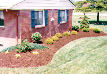 This layout is very popular in landscaping